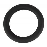 Черное эрекционное кольцо на пенис и мошонку