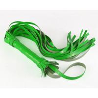 Салатовая гладкая лаковая плеть - 65 см.