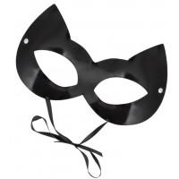 Оригинальная лаковая черная маска  Кошка