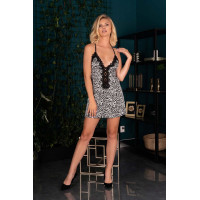 Короткая сорочка Nivien с леопардовым узором