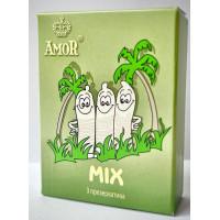 Микс-набор презервативов AMOR Mix  Яркая линия  - 3 шт.